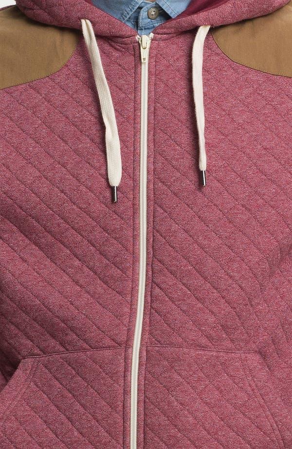 Alternate Image 3  - Topman Quilted Zip Hoodie