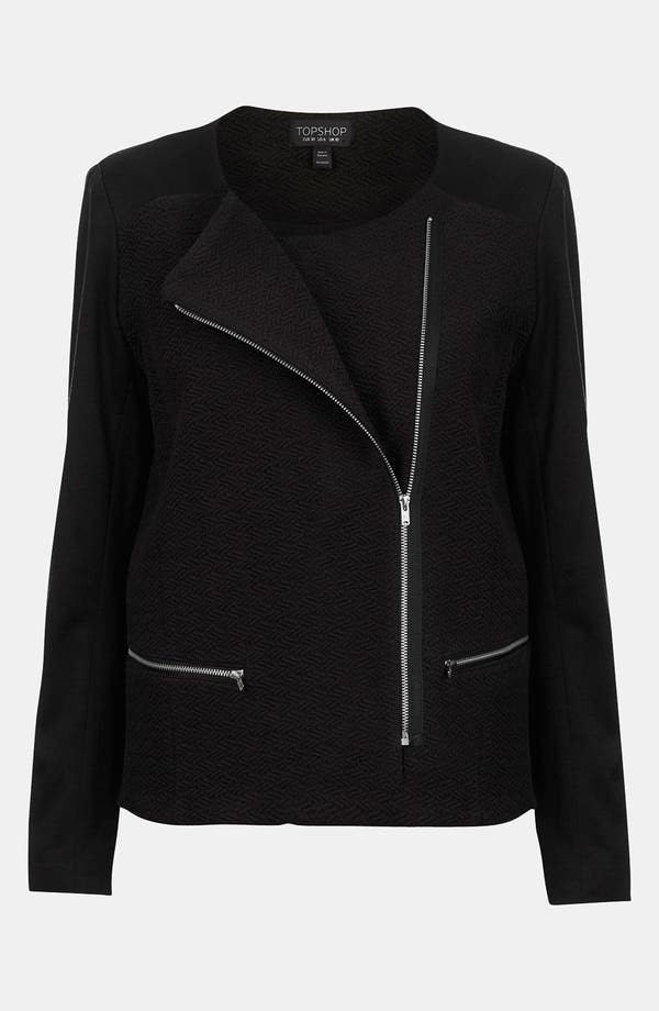 Alternate Image 1 Selected - Topshop Ponte Knit Biker Jacket