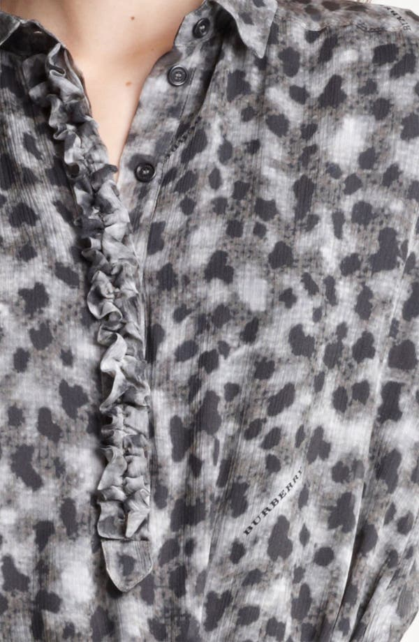 Alternate Image 3  - Burberry Brit Leopard Print Silk Dress