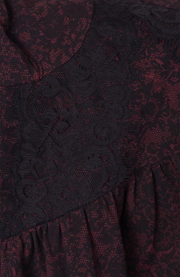 Alternate Image 3  - Topshop Lace Print Bustier Dress