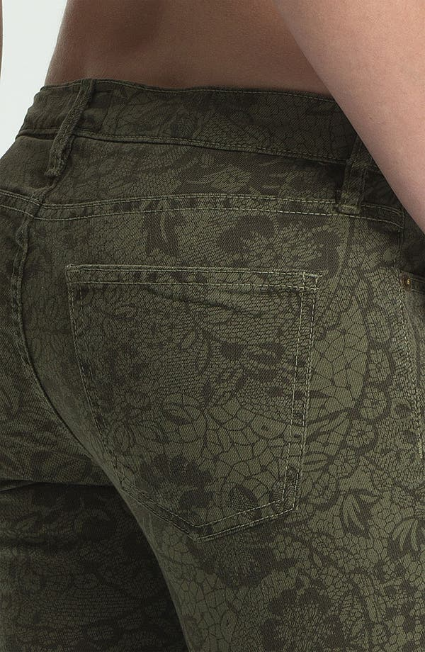 Alternate Image 3  - Current/Elliott 'The Rolled' Print Stretch Jeans (Army Lace)