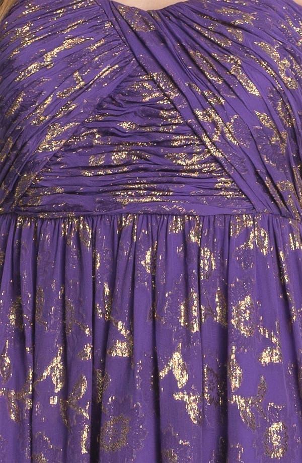 Alternate Image 3  - Calvin Klein Metallic Print Chiffon Dress