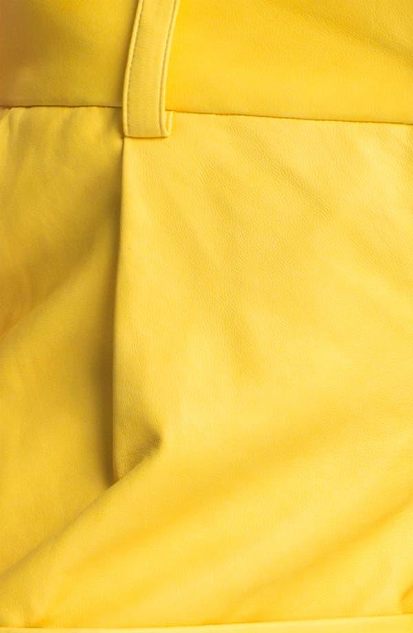 Alternate Image 5  - Alice + Olivia 'Eric' Cuffed Leather Shorts