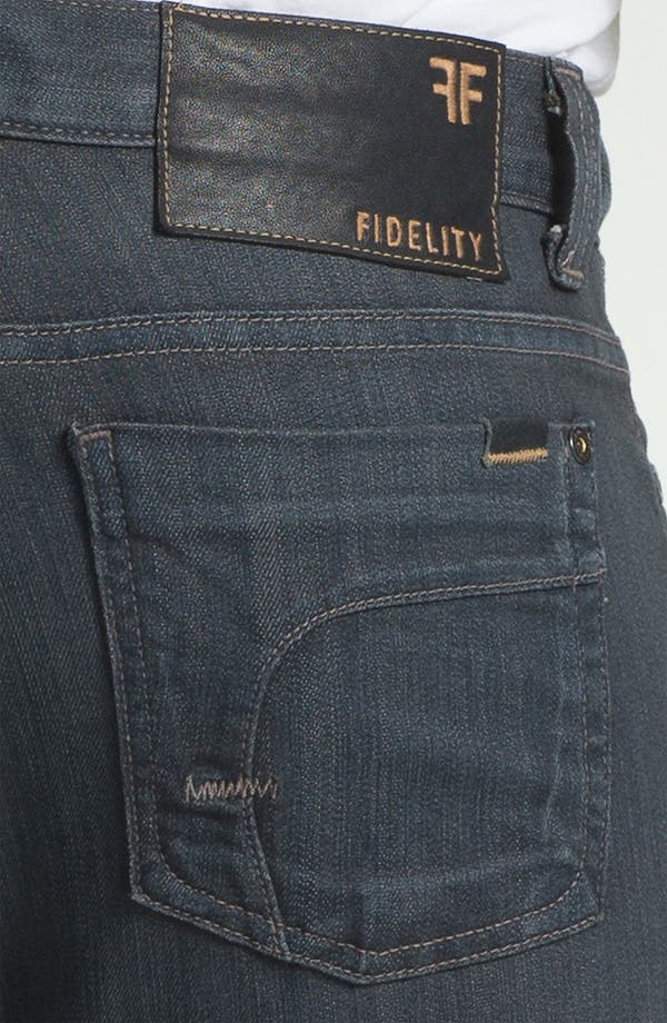 Alternate Image 4  - Fidelity Denim '5011' Straight Leg Jeans (Diego Steel)
