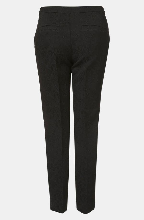 Alternate Image 2  - Topshop Modern Jacquard Cigarette Pants