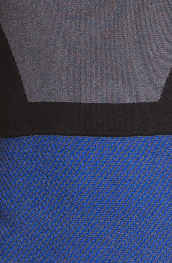 Alternate Image 3  - St. John Collection Colorblock Milano Knit & Tweed Dress
