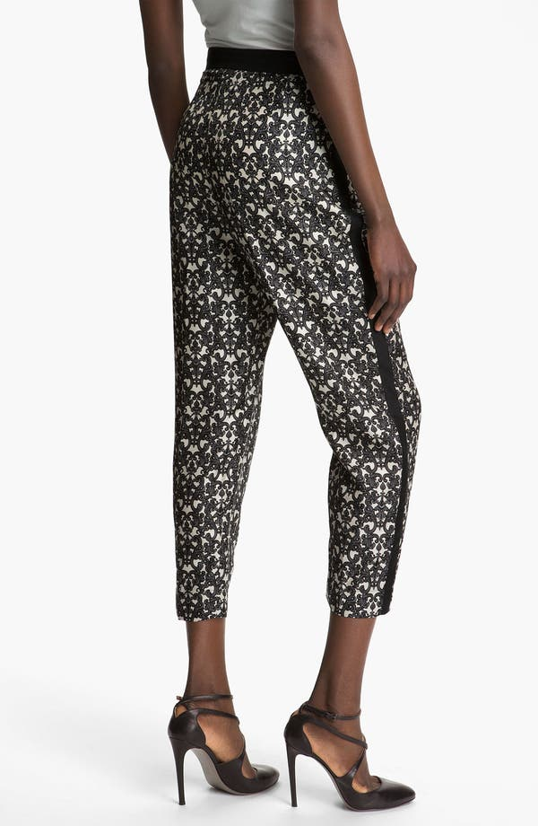 Alternate Image 2  - Robert Rodriguez Filigree Print Silk Trousers