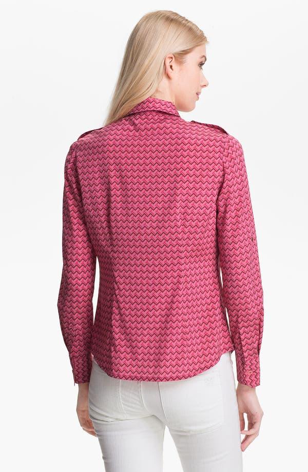 Alternate Image 2  - Tory Burch 'Brigitte' Stretch Silk Shirt