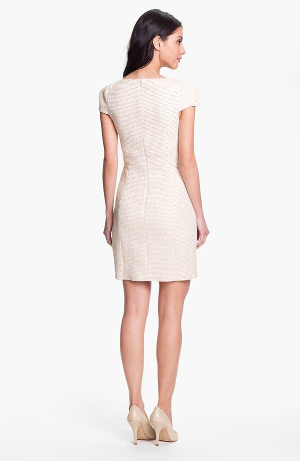 Alternate Image 2  - 4.collective Cap Sleeve Tweed Sheath Dress