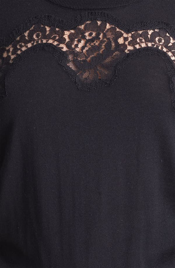 Alternate Image 3  - Dolce&Gabbana Lace Detail Silk Shell