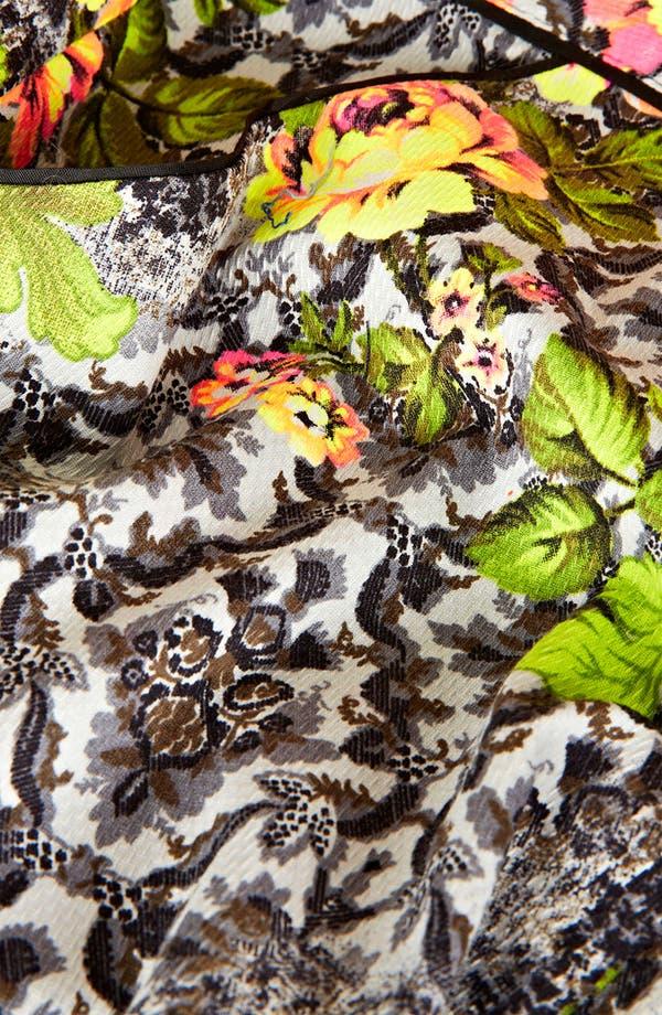 Alternate Image 3  - Topshop 'Acid Leaf' Print Crop Cigarette Pants