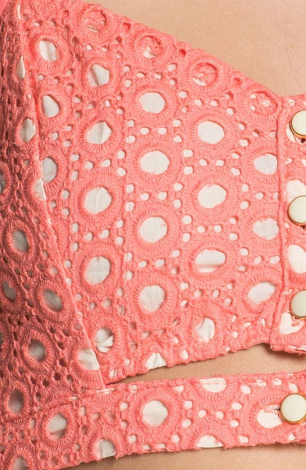 Alternate Image 3  - Lush Cutout Lace Bralette (Juniors) (Online Only)