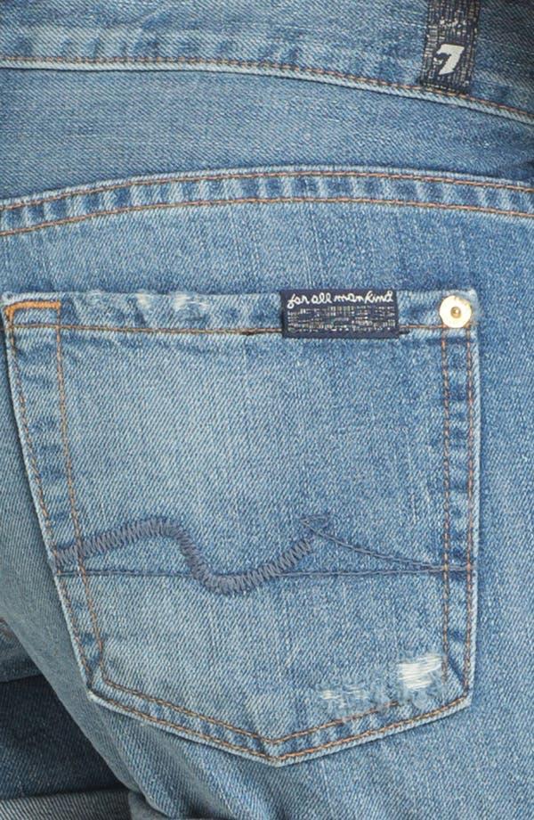 Alternate Image 3  - 7 For All Mankind® 'Josephina' Cuffed Denim Shorts (Light Destroyed)