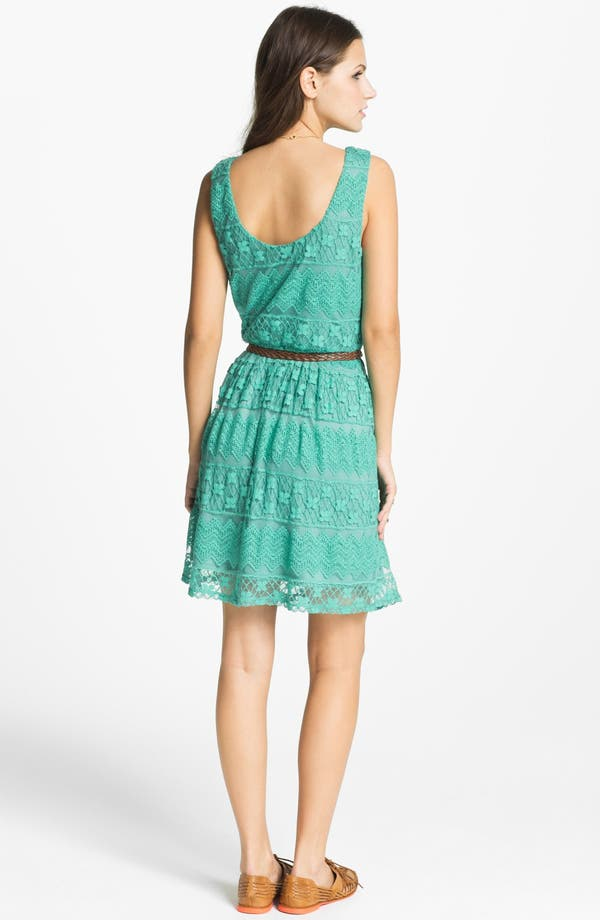 Alternate Image 2  - As U Wish Tiered Lace Dress (Juniors) (Online Only)