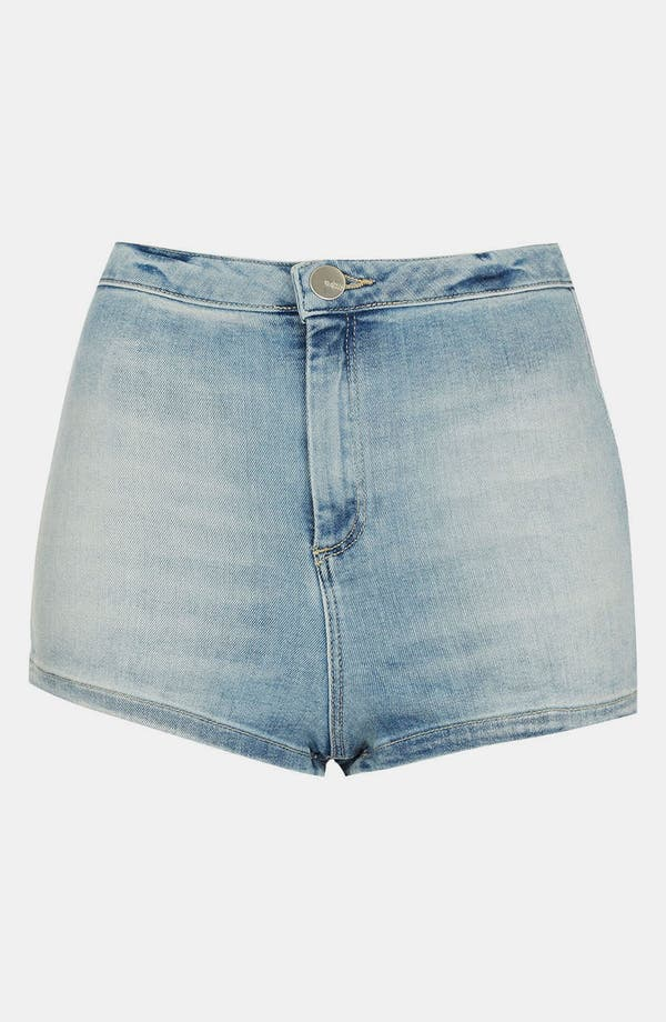 Alternate Image 1 Selected - Topshop Moto 'Francis' Denim Hot Pants