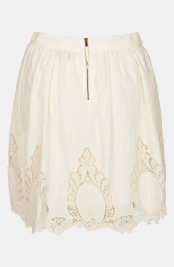 Alternate Image 2  - Topshop Doily Lace Skirt