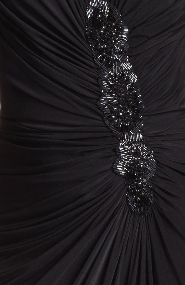 Alternate Image 3  - Tadashi Shoji Embellished Ruched Gown