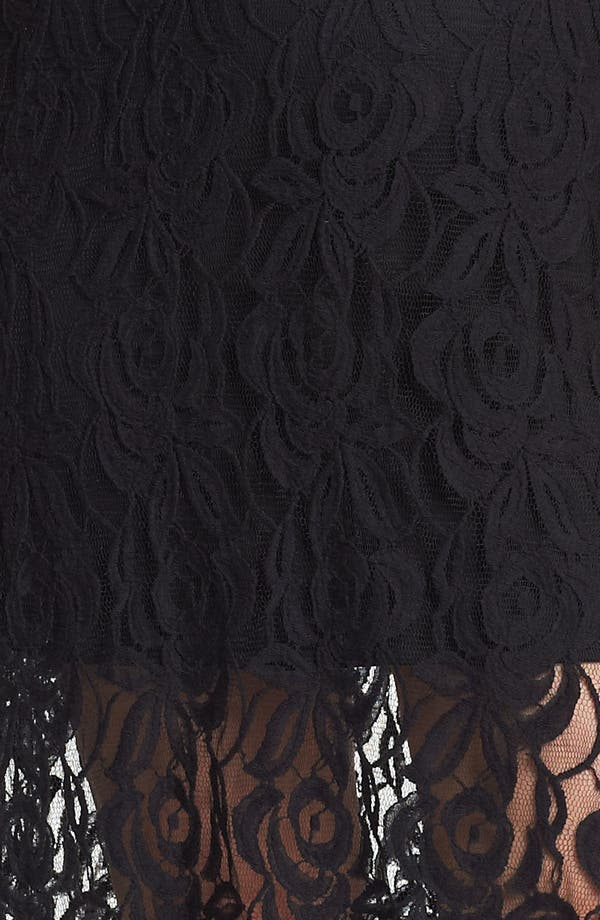 Alternate Image 3  - Loveappella Lace High/Low Maxi Dress (Plus Size)