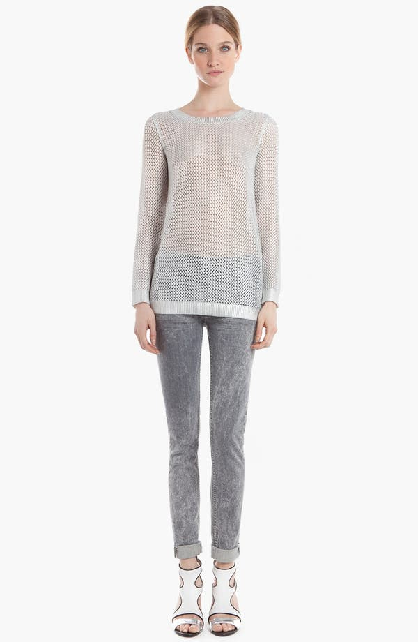 Main Image - sandro 'Star Silver' Sheer Sweater