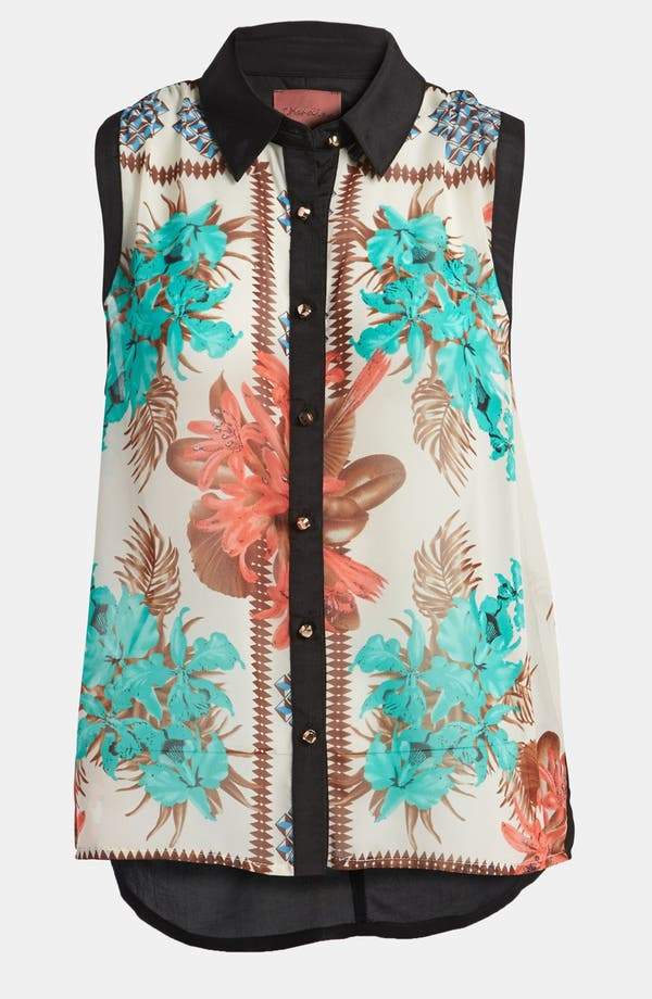 Main Image - I.Madeline Sleeveless Hawaiian Print Blouse