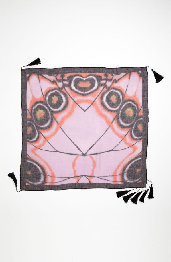 Alternate Image 2  - Hinge® 'Gossamer Wings' Tasseled Scarf