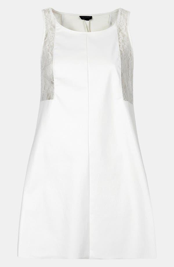 Alternate Image 3  - Topshop Lace Trim Shift Dress