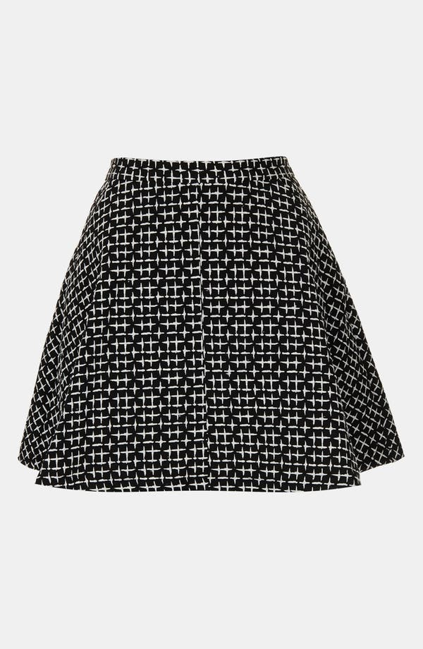 Alternate Image 4  - Topshop Cross Stitch Print Skirt