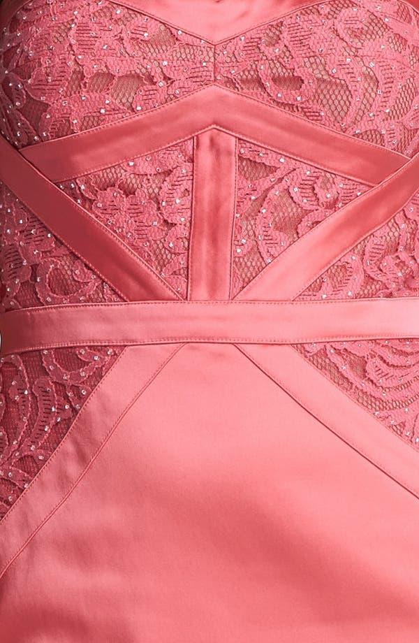 Alternate Image 3  - Aidan Mattox Embellished Lace Strapless Sheath Dress (Online Only)