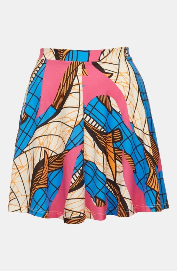Alternate Image 3  - Topshop Fluorescent Print Skater Skirt