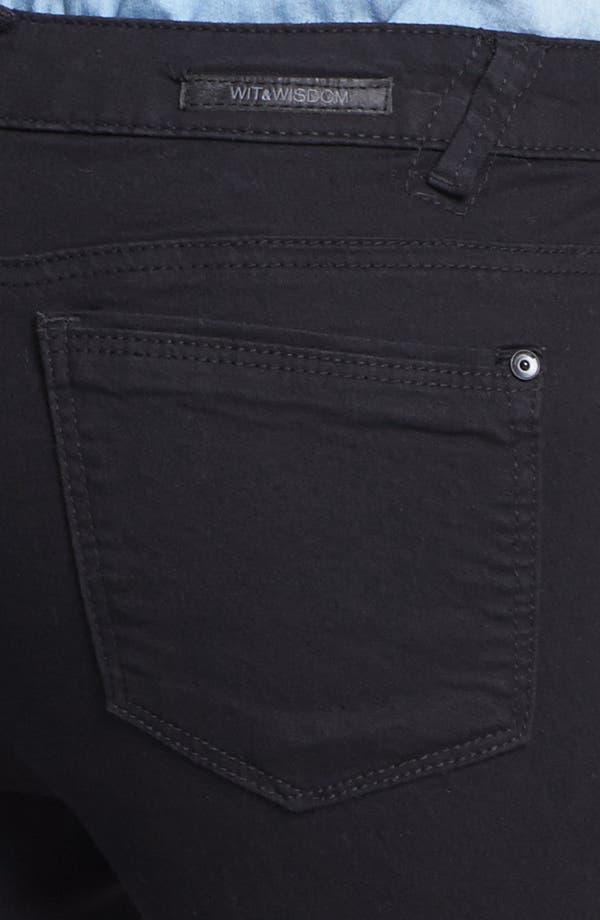 Alternate Image 3  - Wit & Wisdom Skinny Jeans (Black) (Nordstrom Exclusive)