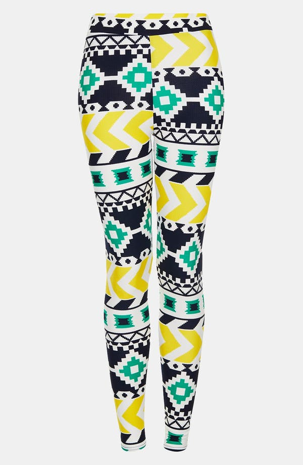 Alternate Image 3  - Topshop Geometric Print Leggings