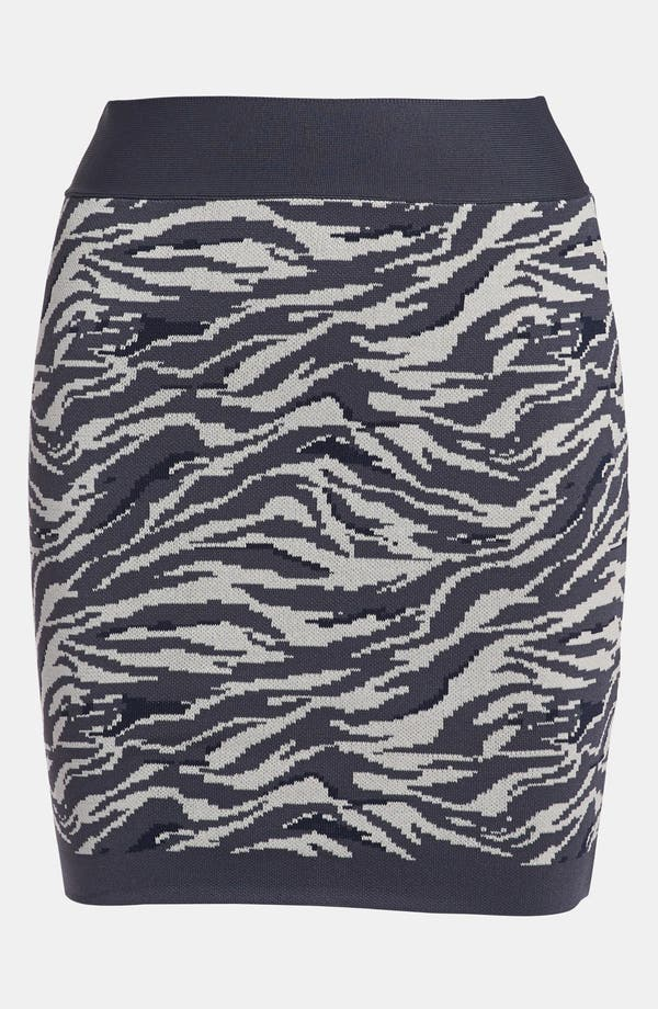 Main Image - Leith 'Punked' Animal Print Miniskirt