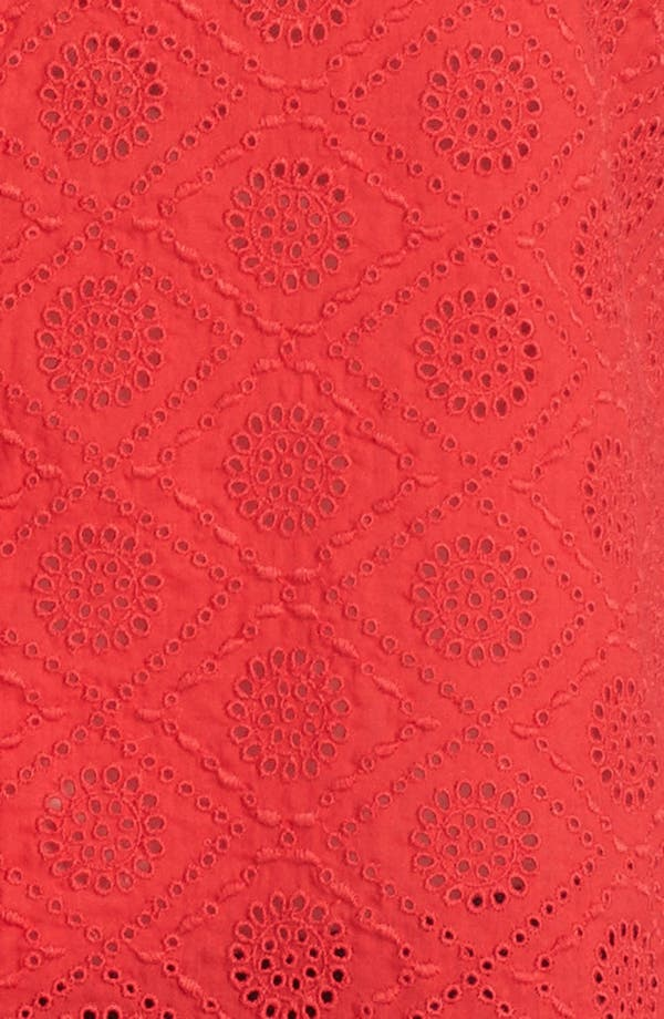 Alternate Image 3  - Lucky Brand 'Vivianne' Sleeveless Eyelet Shirt (Plus Size)