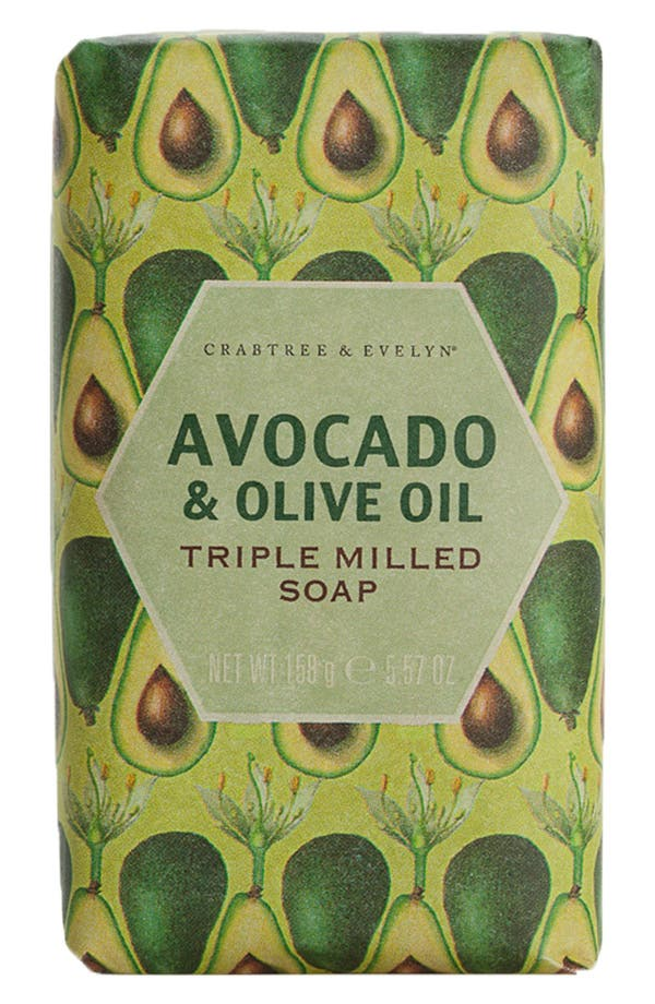 Alternate Image 1 Selected - Crabtree & Evelyn 'Avocado & Olive Oil' Triple Milled Soap