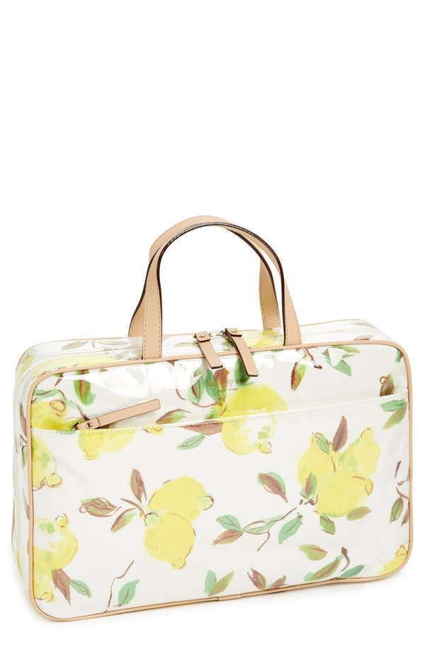 Main Image - kate spade new york 'limoncello bouquet - manuela' cosmetics case
