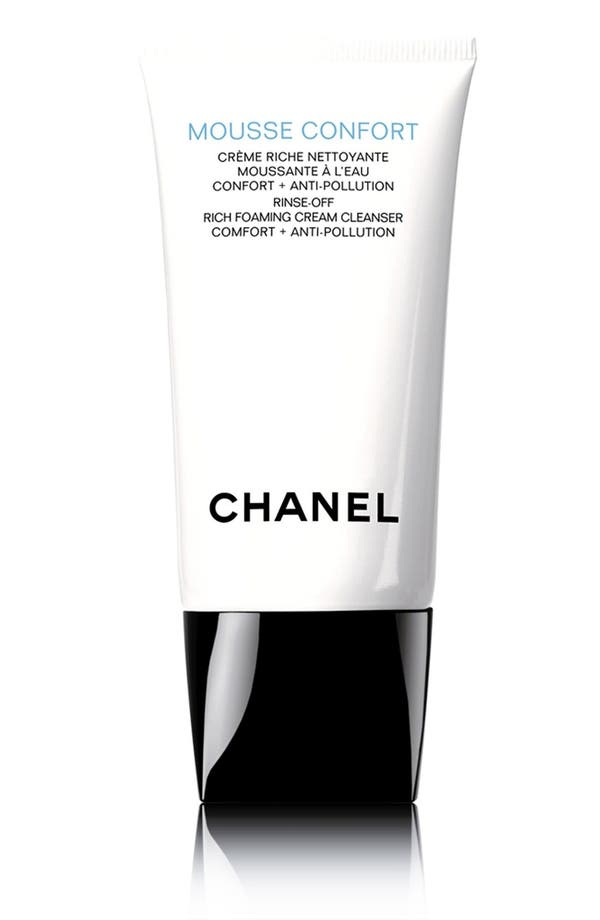 MOUSSE CONFORT<br />Rinse-Off Rich Foaming Cream Cleanser,                             Main thumbnail 1, color,                             No Color