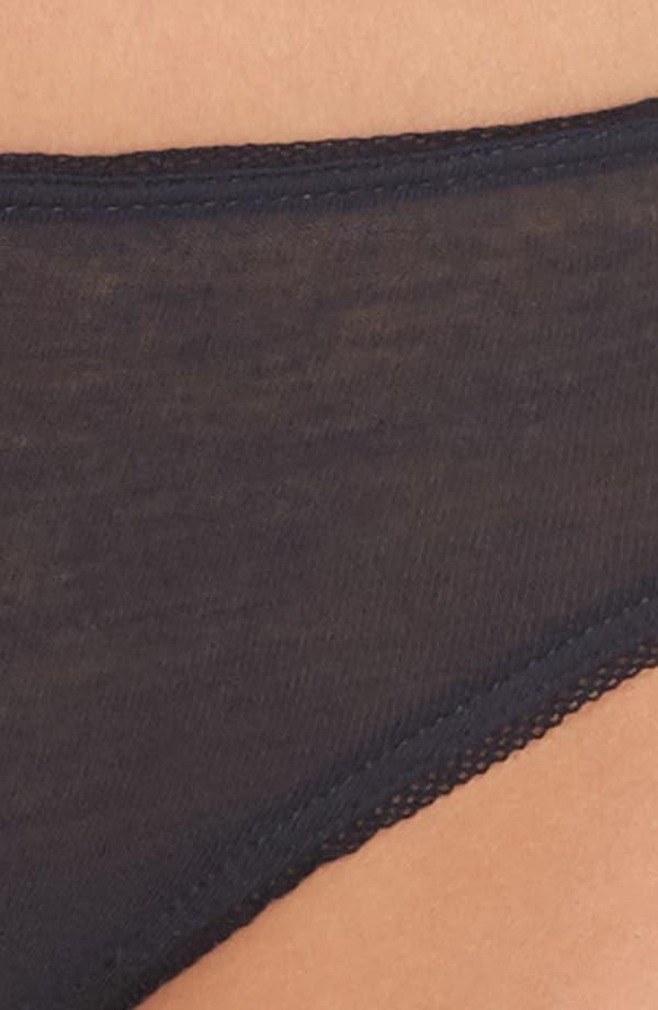 Organic Cotton Thong,                             Alternate thumbnail 6, color,                             Dark Navy