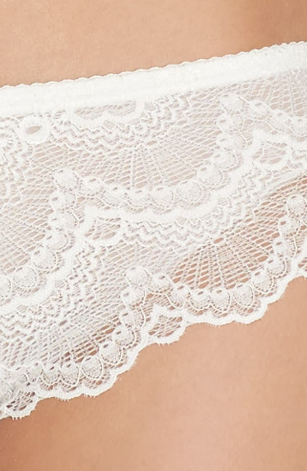 Lace Hipster Briefs,                             Alternate thumbnail 8, color,                             Antique Ivory