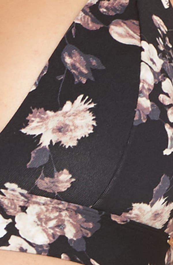 Harper Print Bralette,                             Alternate thumbnail 9, color,                             Black Floral