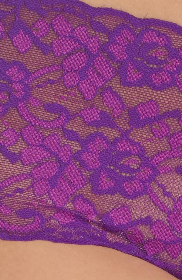 Alternate Image 5  - Hanky Panky Cross Dye Lace Retro Thong (Plus Size)