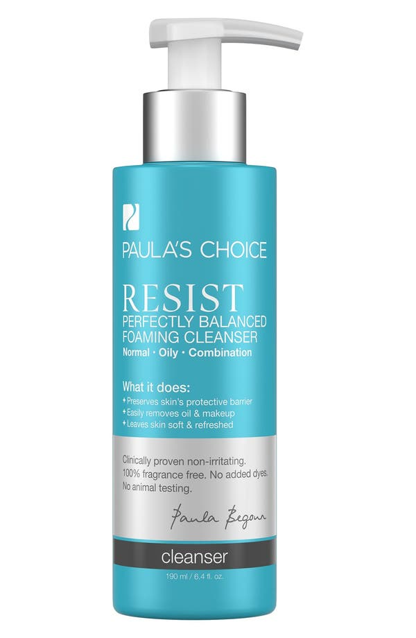 Resist Perfectly Balanced Foaming Cleanser,                         Main,                         color, No Color