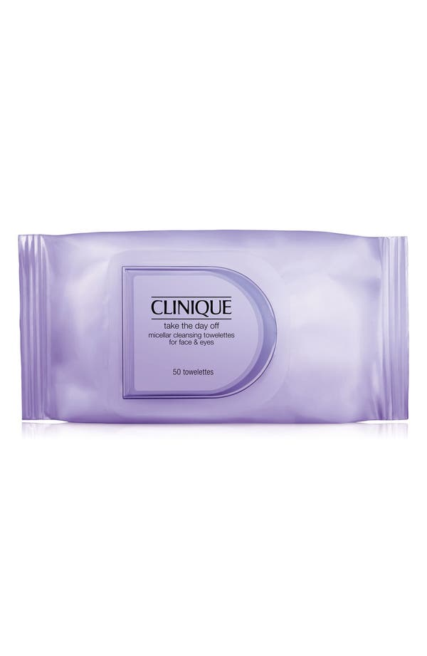 Take the Day Off Micellar Cleansing Towelettes for Face & Eyes,                             Main thumbnail 1, color,                             No Color