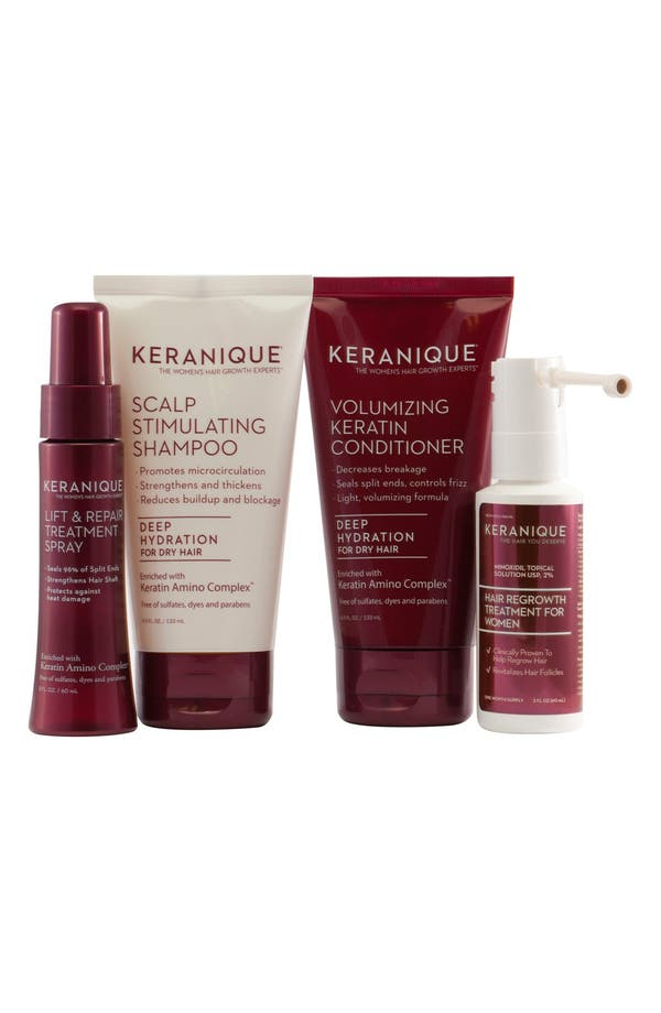 Alternate Image 1 Selected - Keranique Deluxe Regrowth Treatment & Deep Hydration Set ($73 Value)