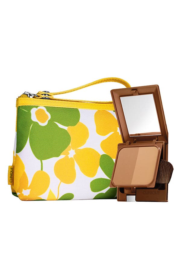 Alternate Image 1 Selected - Clinique 'Almost Bronzer' SPF 15 Powder with Makeup Bag