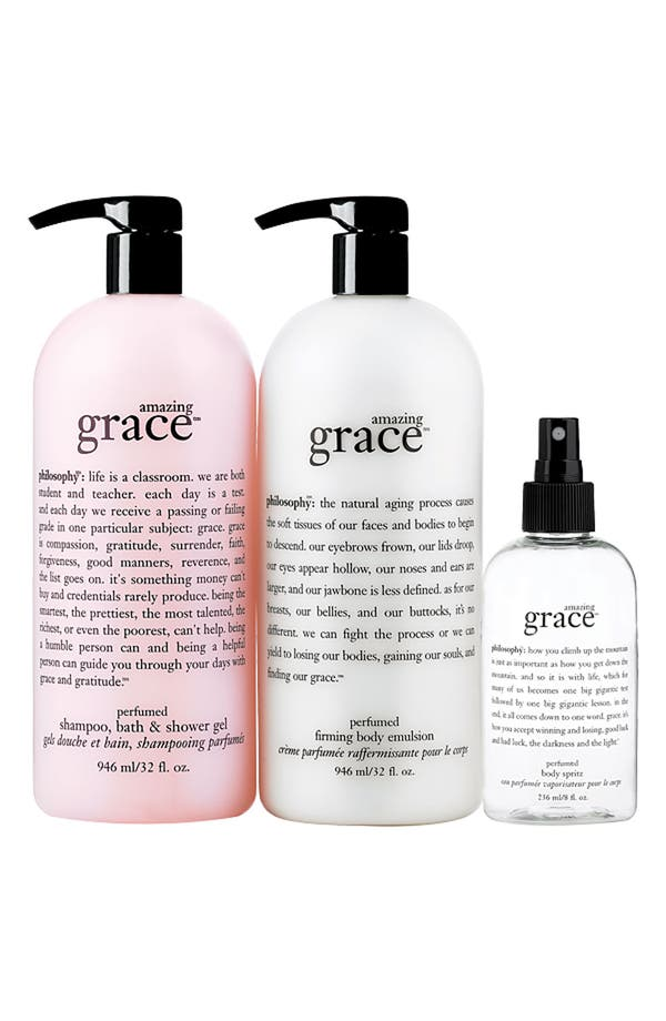 Alternate Image 1 Selected - philosophy 'amazing grace' 3-piece super set (Nordstrom Exclusive) ($137 Value)
