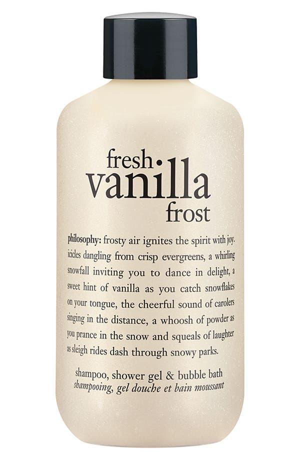 Main Image - philosophy 'fresh vanilla frost' shampoo, shower gel & bubble bath (Nordstrom Exclusive)