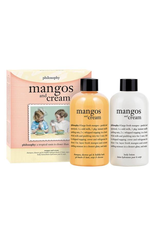 Alternate Image 1 Selected - philosophy 'mangos & cream' shampoo, bath & shower gel duo