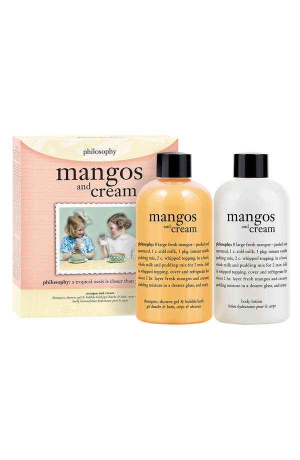 Main Image - philosophy 'mangos & cream' shampoo, bath & shower gel duo