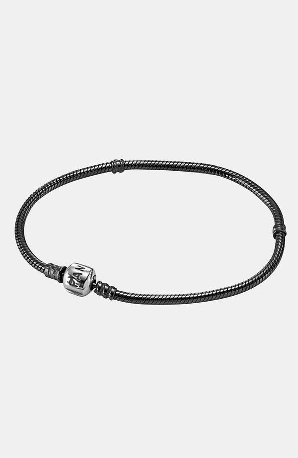 Oxidized Sterling Silver Charm Bracelet,                             Main thumbnail 1, color,                             Oxidized Sterling Silver