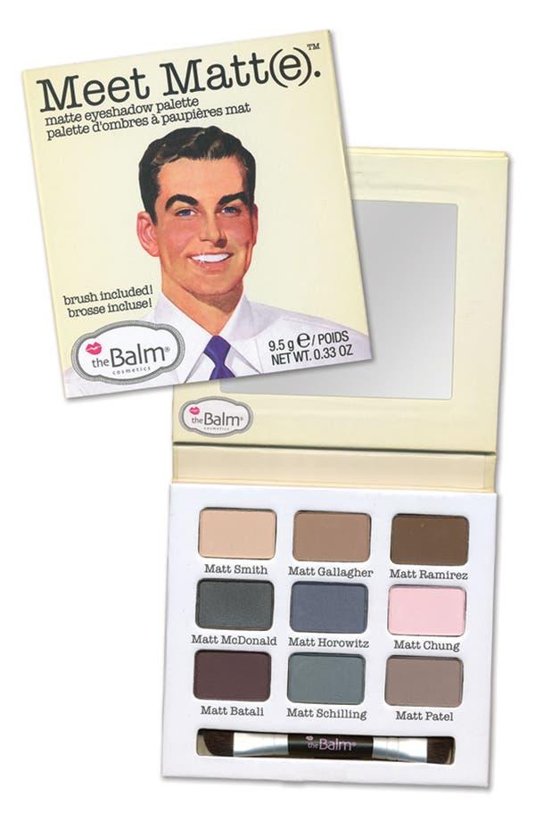Main Image - theBalm® 'Meet Matt(e)®' Eyeshadow Palette